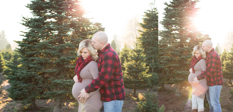Winter Sunset Maternity Session | Puyallup Maternity Photographer | Tacoma Pregnancy Session
