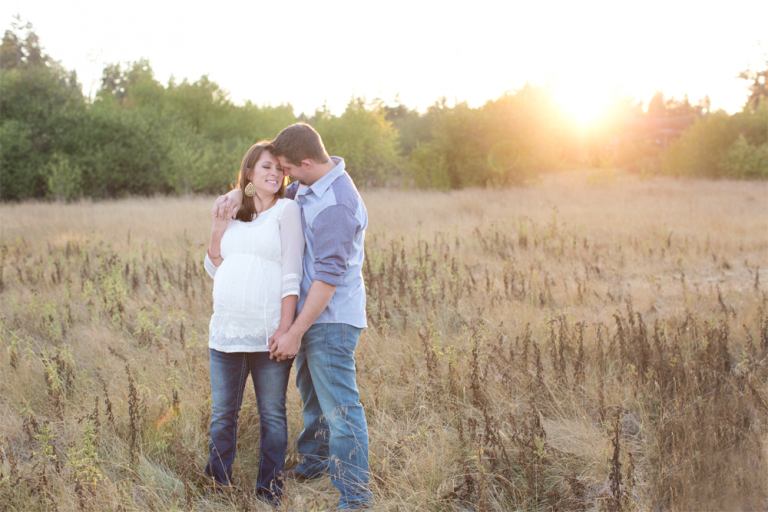 puyallup maternity photographer | tacoma sunset maternity session