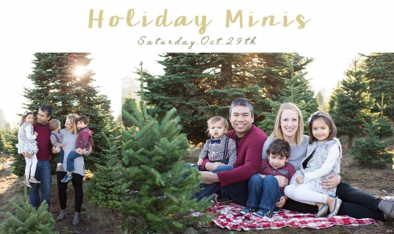 holiday mini sessions | tacoma puyallup seattle photographer | www.christinamaephotography.com