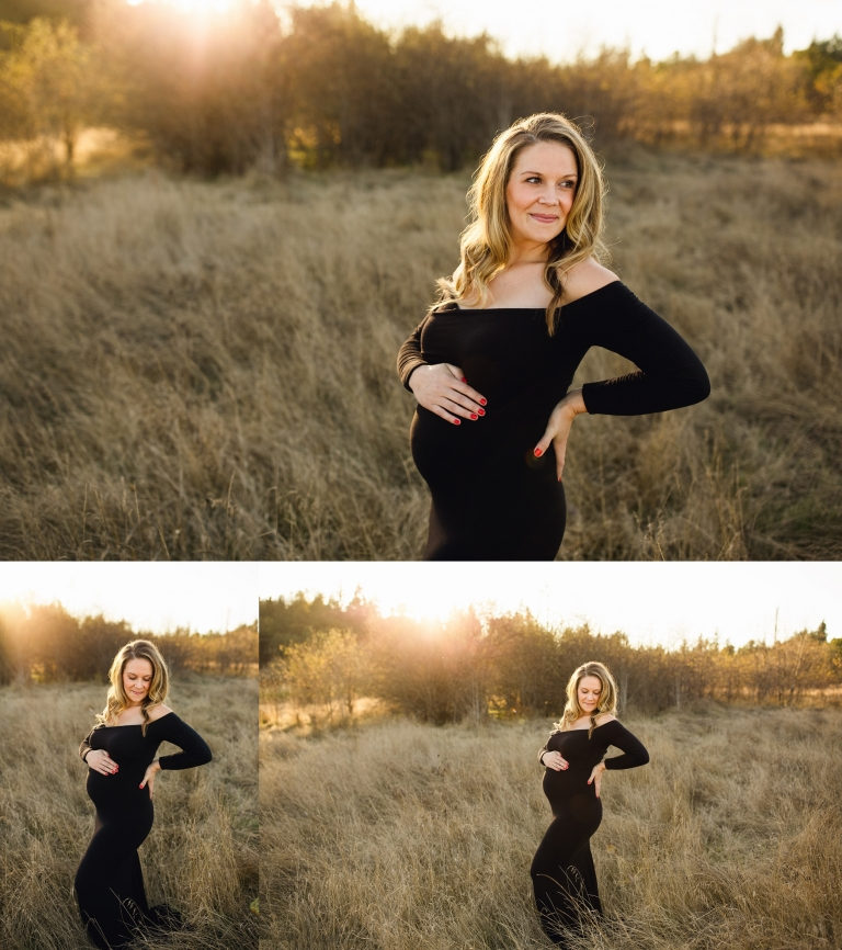 Seattle maternity photographer | Puyallup sunset maternity session