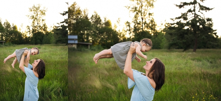 tacoma family photographer | Puyallup sunset session