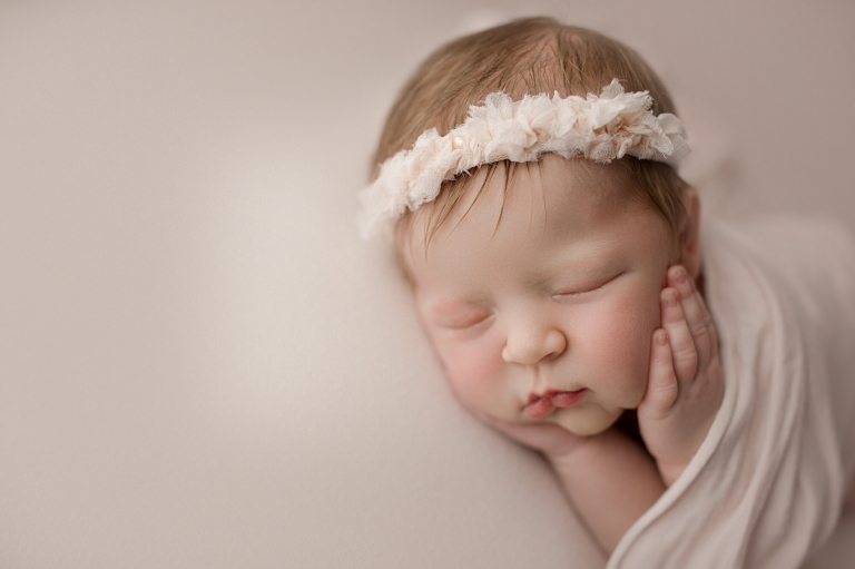 newborn photography seattle - baby girl studio session