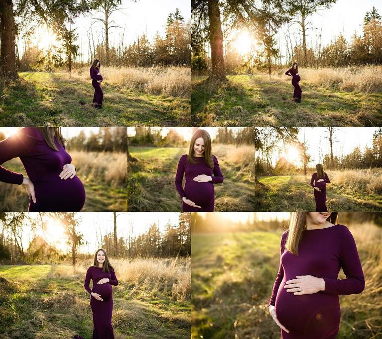 puyallup maternity newborn photographer | baby girl studio session tacoma